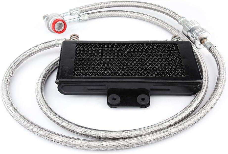 KIMISS Motor enfriador de aceite,Radiador aceite de motor kit Radiador refrigeración aceite para motor Yamaha 100cc-125cc 125mlgrande copertura a rete nero: Amazon.es: Coche y moto
