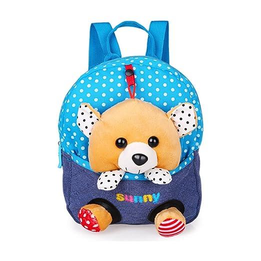 7ffe8e2a98 Kids Cute Backpack Canvas Waterproof Animal Adjustable Removable 3D Bunny  Baby Dolls School Book Bag Cartoon