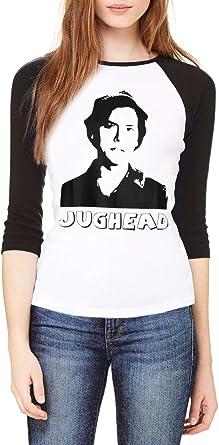 Topcloset Jughead Jones Cole Sprouse - Camisa de béisbol para Mujer - Negro - Medium: Amazon.es: Ropa y accesorios