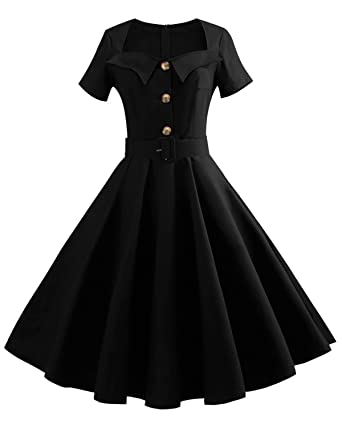 Short Sleeve Vintage Dress
