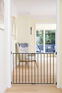 """Qdos Extending SafeGate Baby Gate - Meets Tougher European Standards - Angle Mount Capable - Templates for Easy Installation - Safe for Top of Stairs - Fits openings 26"""" - 41""""
