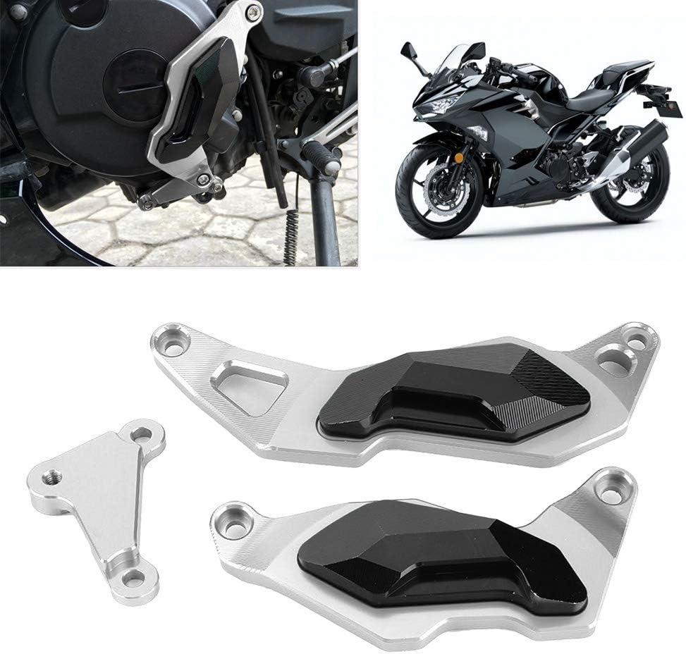 Paracolpi per motore protezione per paracolpi proteggi motore per moto per Ninja 400 2017 2018 2019 Nero