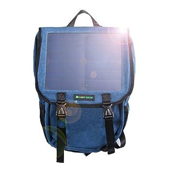 Pomelo mejor 35L mochila para portátil de lona con SunPower panel solar, 10 W, 5 V, 1,5 A, Color Deep Blue: Amazon.es: Electrónica