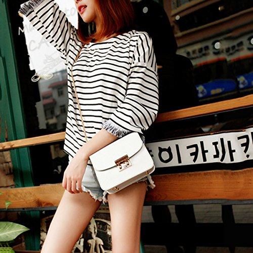 Hombro Bolsa Zhi Wild Mini Messenger Pequeña Wu Lady La White Cadena Bolso Bag Cuadrada De FnqP4xSw
