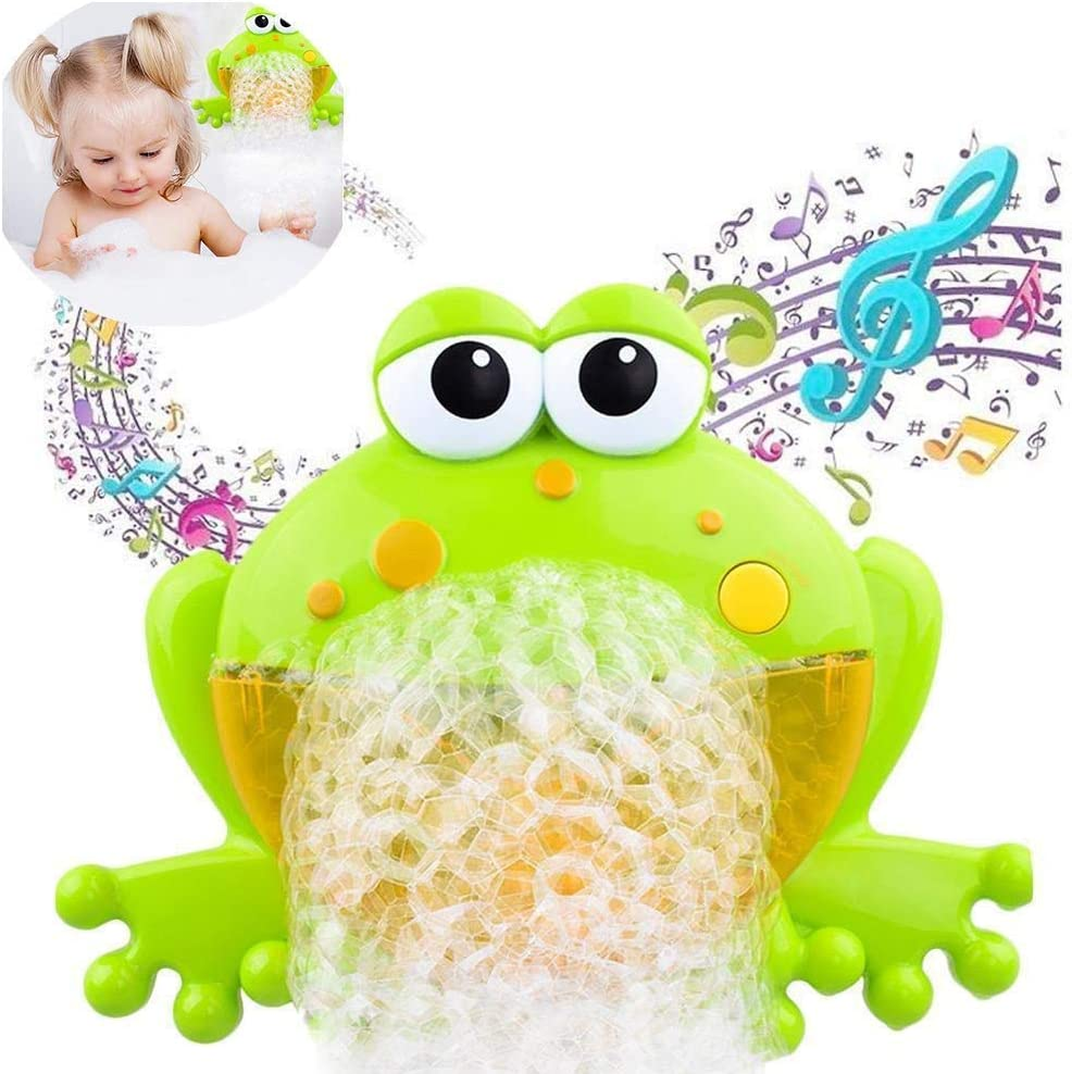 ALWWL Rana Máquina de Burbujas, Máquina de Burbujas, Juguete Baño Bebe, con 12 Musica, Lechón, Automático, para Bebés da a los Niños una Feliz Hora de Baño