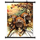 Attack on Titan Anime Fabric Wall Scroll Poster (16 x 22) Inches