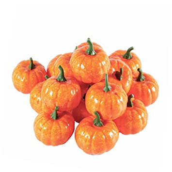amazon com junda 16 pack emulational small pumpkin foam artificial