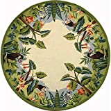 Beige & Green Animal Kingdom Rug (8 ft. Round)