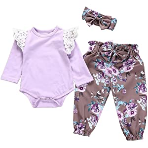 Muium 3pcs Infant Baby Kids Long Sleeve T-Shirt Tops+Jeans Pants Outfits Boys Girls Clothes Set for 0-7 Years Old Black