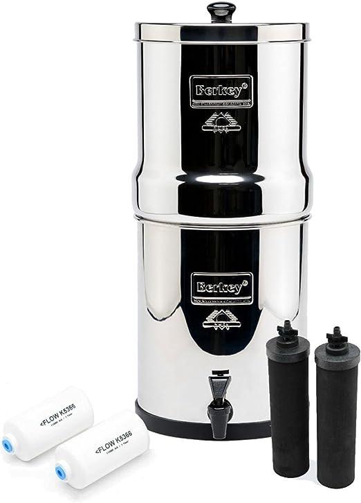 Royal Berkey purificadores de filtro de agua con 2 negro Elements con 2 pf-2 fluoruro filtro ~ sistema de filtrado Reino Unido acero inoxidable: Amazon.es: Grandes electrodomésticos
