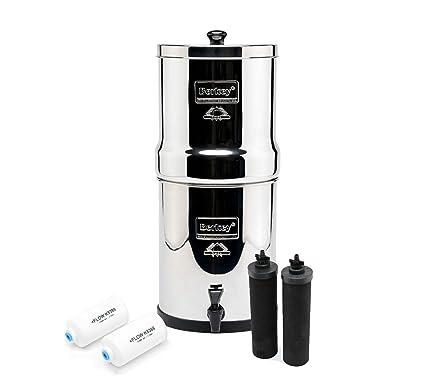 Royal berkey water filter Counter Image Unavailable Amazoncom Amazoncom Berkey Royal With Black Filters And Pf2 Fluoride