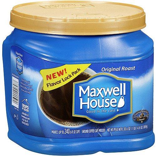 MAXWELL HOUSE COFFEE ORIGINAL ROAST BLEND 30.6 oz