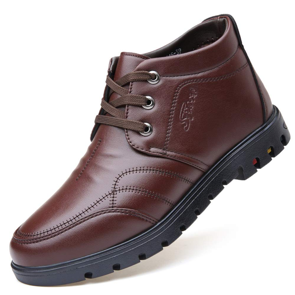 Gobling Mens Leather Dress Captoe Oxford Shoe Casual Lace-up Formal Modern Business Shoes