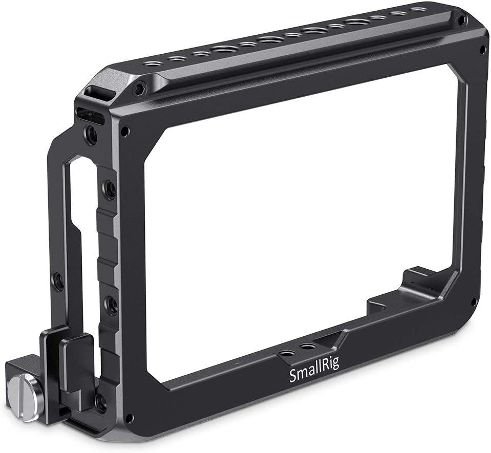 1726 SMALLRIG 5 inch Monitor Cage with NATO Rail and HDMI Clamp for Blackmagic Design Video Assist 5 inches Monitor Video Monitors Professional Video Accessories