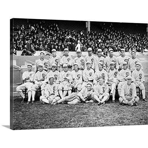 Chicago White Sox Comiskey Park - GREATBIGCANVAS Gallery-Wrapped Canvas Entitled The 1919 Chicago White Sox at Comiskey Park in Chicago, Illinois by 24