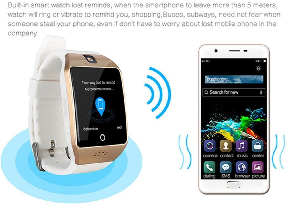 Smart Watch Phone,SUNETLINK Touch Screen Bluetooth Cell Phon e Watch Support Pedometer analysis/Sleep Monitoring with Camera NFC,for Android Smart Phones,Men Women