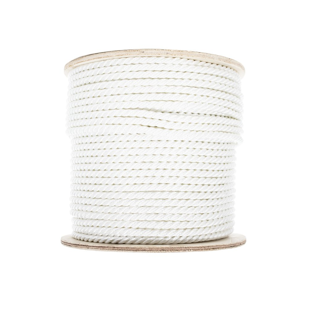 Crafting Low Stretch Choose from Multiple Lengths and Widths Multiple Uses and More PARACORD PLANET 3 Strand Twisted Polyester Rope High Strength Comes in White Utility