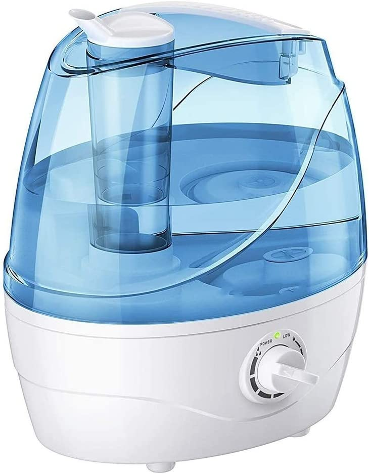 ERDFCV 2200ml Cool Mist Humidifier, Ultrasonic Humidifier with Large Water Tank, Automatic Shut Off Without Water, Air Cooler Humidifier, Used in Bedroom, Baby Room, Living Room,