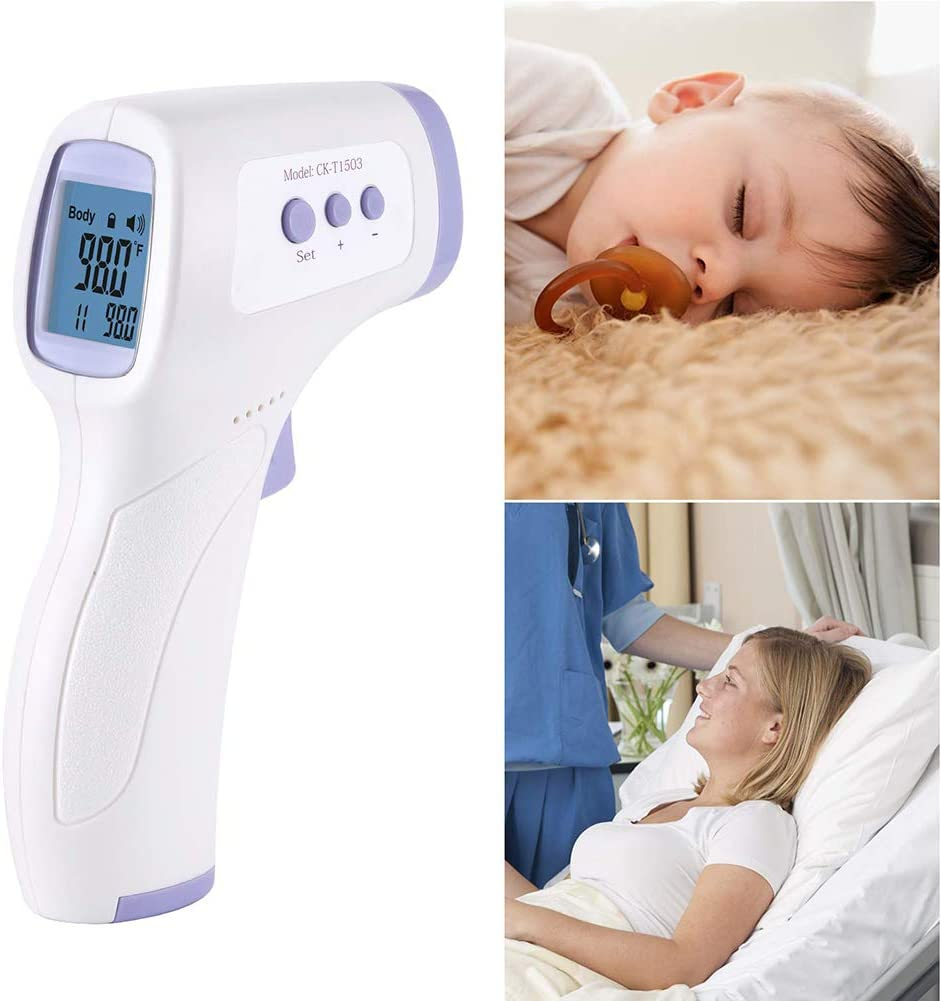 Infrared Thermometer for Medical use Non-Contact Iproven Digital Forehead Ear Fever Thermometer for Baby Kids Child Children Adult