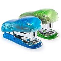 Rapesco Bug - Mini grapadora con 12 hojas de capacidad usa grapas 26/6 y 24/6, varios colores (WSR700A3)