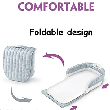Amazon.com : Aik@ Portable Foldable Cribs Co-Sleeping, Cotton Travel Bed Hypoallergenic Breathable Soft Suitable for 0-1 Year Baby-A : Baby