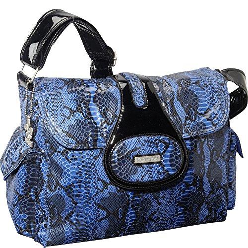 Python Shopper - Kalencom Diaper Bag, Elite Python Delph Blue