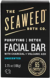 product image for The Seaweed Bath Co. Purifying Detox Facial Bar Soap, Unscented, With Natural Organic Seaweed, Charcoal, Vegan, Paraben Free, 3.75 oz.