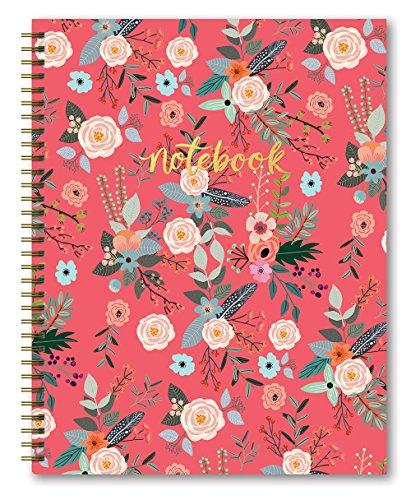 "Studio Oh! Hardcover Spiral Notebook, 8.5"" x 11"", Coral Secret Garden"