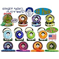 12 Pack Crazy Aaron's Thinking Putty