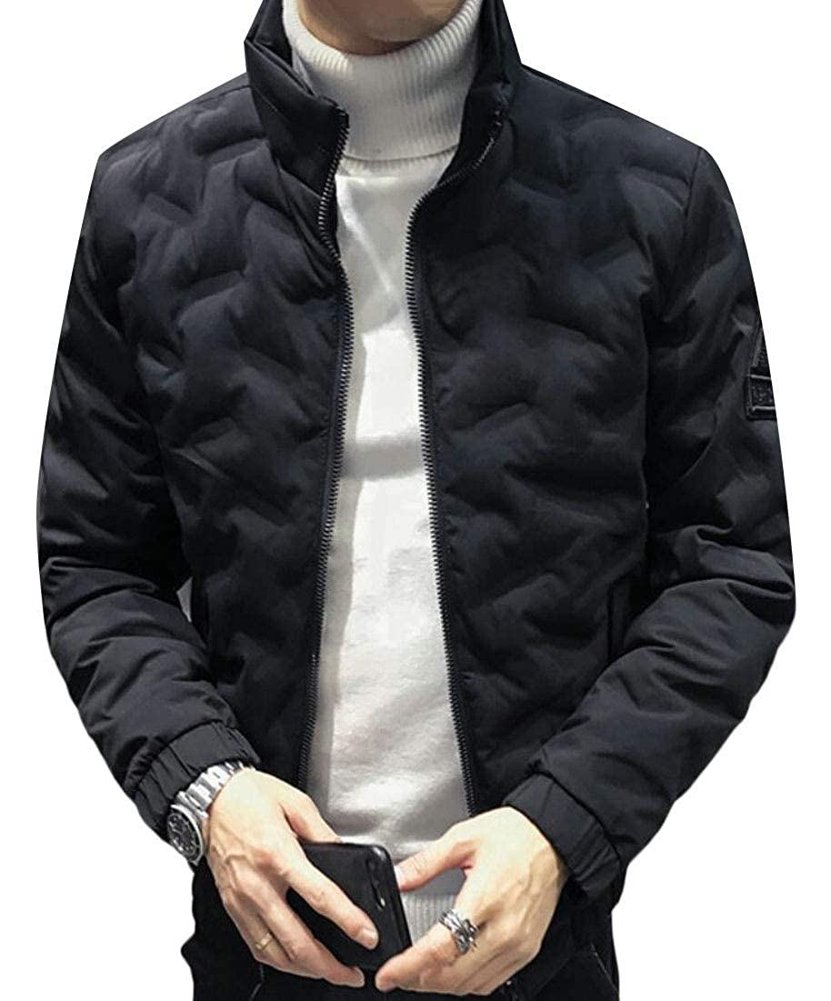 xiaohuoban Mens Padded Puffer Jacket Lightweight Water Resistant Quilted Coat