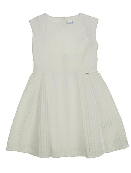 4b25253543d2 Mayoral 28-06944-030 - Vestito Struttura per Bambine e Ragazze 10 Anni  Bianco  Amazon.it  Abbigliamento