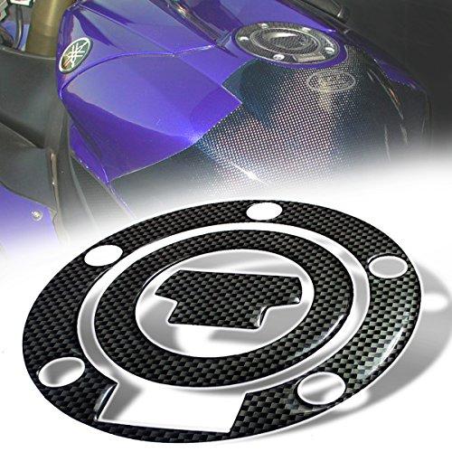 Pad Fuel Cap (3D Gas Tank Fuel Cap Cover Protector Pad for Yamaha R1/R6 YZF/FZ/FJ (Carbon Fiber Look))