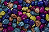 Fantasia Materials: 11 lbs Tumbled Assorted Dalmatian Jasper ''AA'' Grade Stones from India - Large 1'' Bulk Natural Polished Gemstone Supplies for Crafts, Reiki, Wicca and Energy Crystal Healing