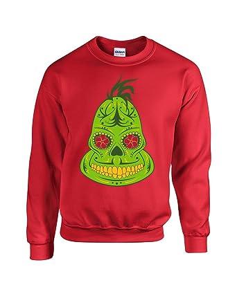 americas finest apparel grinch sugar skull ugly christmas sweater