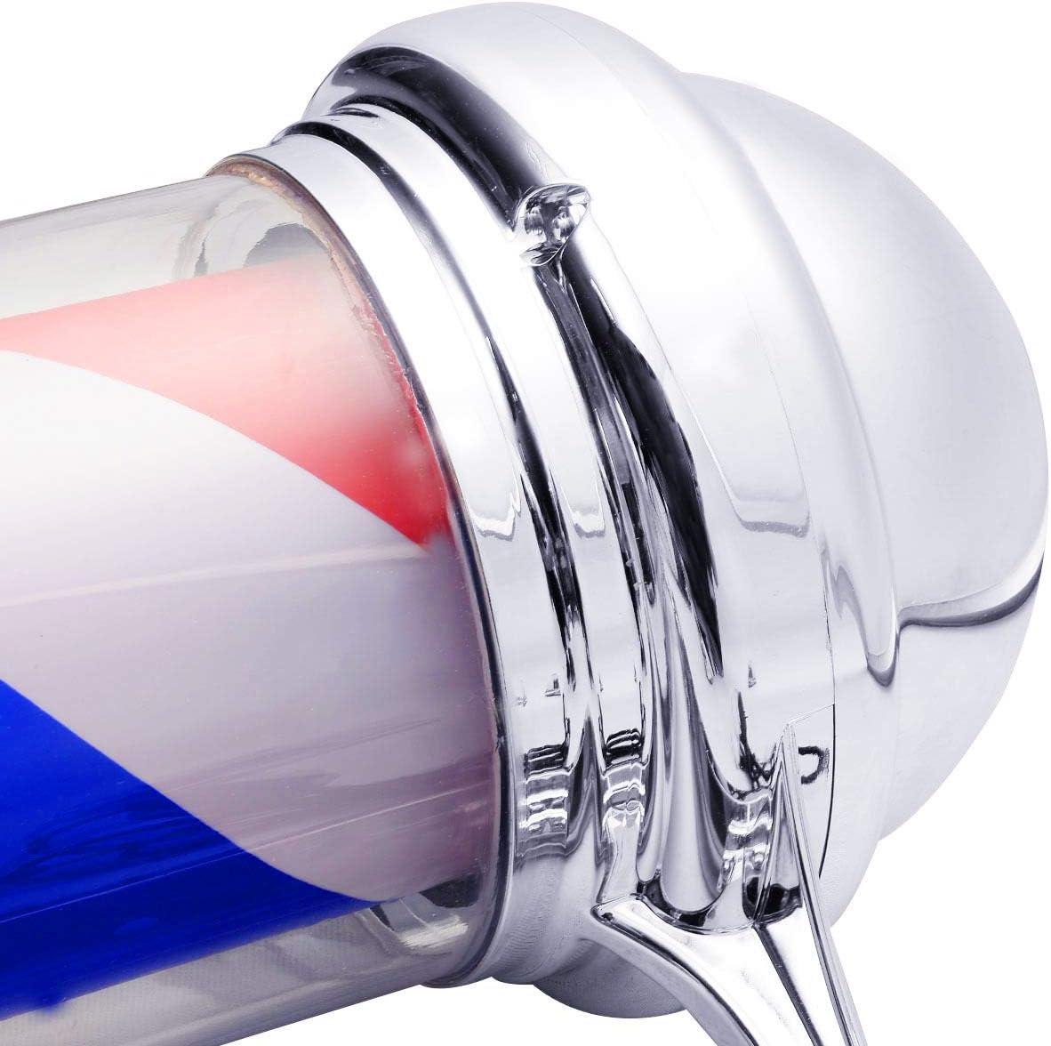 Giantex 30 Barber Shop Pole Red White Blue Rotating Light Stripes Sign Hair Salon