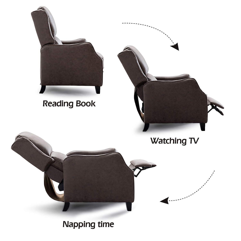 Amazon.com: ANJ - Silla reclinable con respaldo y cojín ...