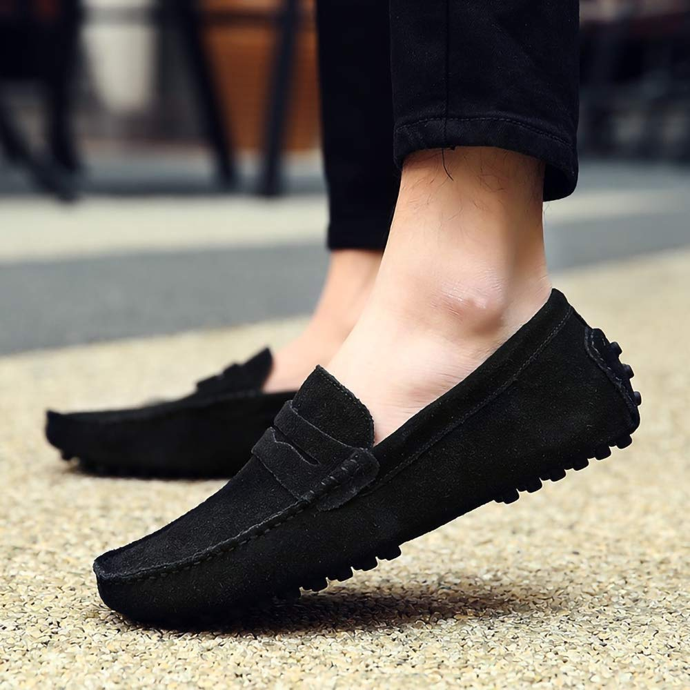 Amazon.com | Luxury Fashionable Soft Moccasins Genuine Leather Loafers for Men and Women Flats Suede Driving Shoes Unissex | Loafers & Slip-Ons
