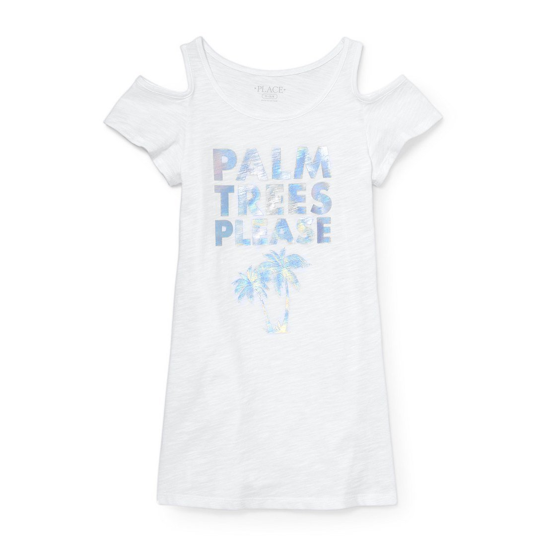The Children's Place Big Girls' Coverup, White 4240, S (5/6)