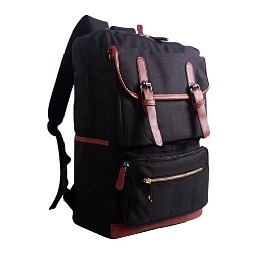 ZKOO Multifunción Mochilas Mujer Hombre Lona Escolares Mochilas Laptop Backpack Daypacks Mochila de Viaje Bolsa De Hombro Casual Negro: Amazon.es: Zapatos y ...