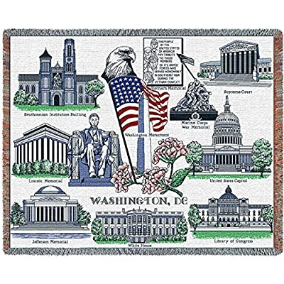 "Pure Country Weavers ""Washington DC 2 Blanket"" Tapestry Throw"