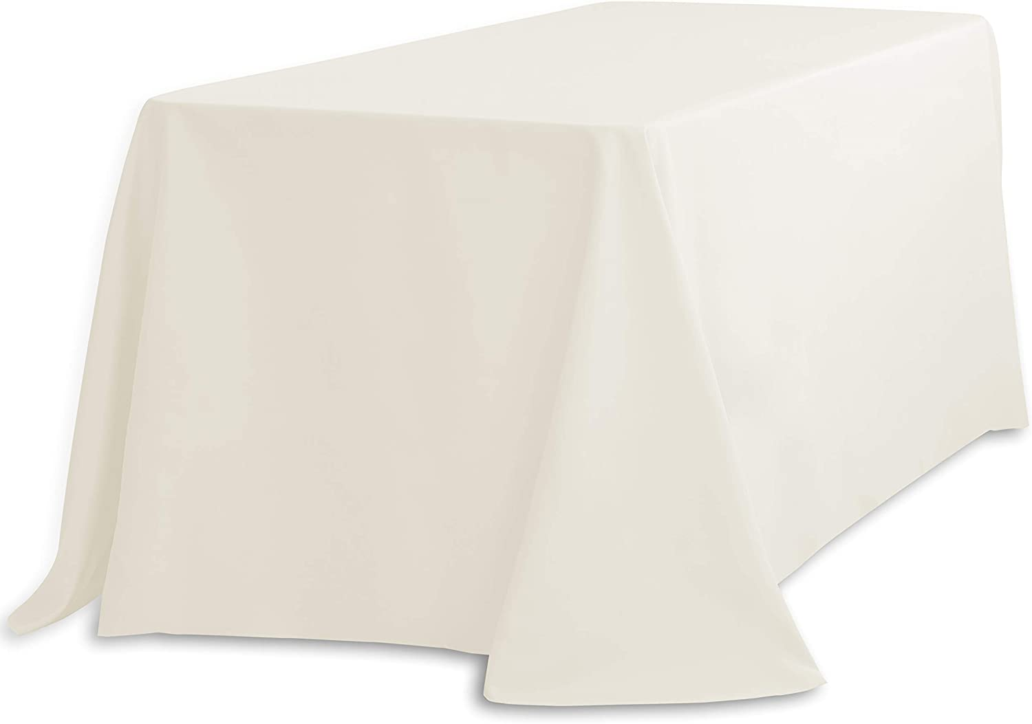 60 x 108 inch Rectangular Ivory Tablecloth Polyester Wedding Tablecloth