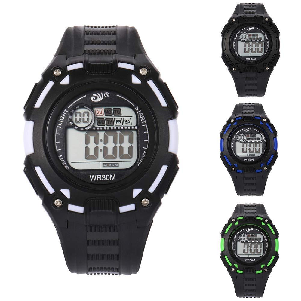 Relojes de pulsera Moda Accesorios, Deportes correa de silicona digital Dial luminoso alarma unisex reloj de pulsera: Amazon.es: Belleza