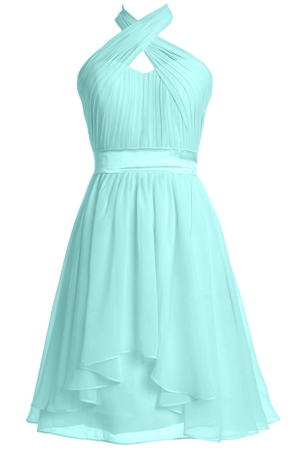 Gown Macloth Wedding Party Women Formal Length Halter Knee WH9ED2I