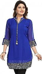 Women Fashion Party Indian Kurti Tunic Kurta Top Shirt Dress SC1030