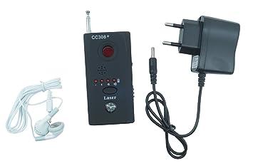 Detector de micrófonos ocultos y telecámaras con y sin cable, CC308: Amazon.es: Electrónica