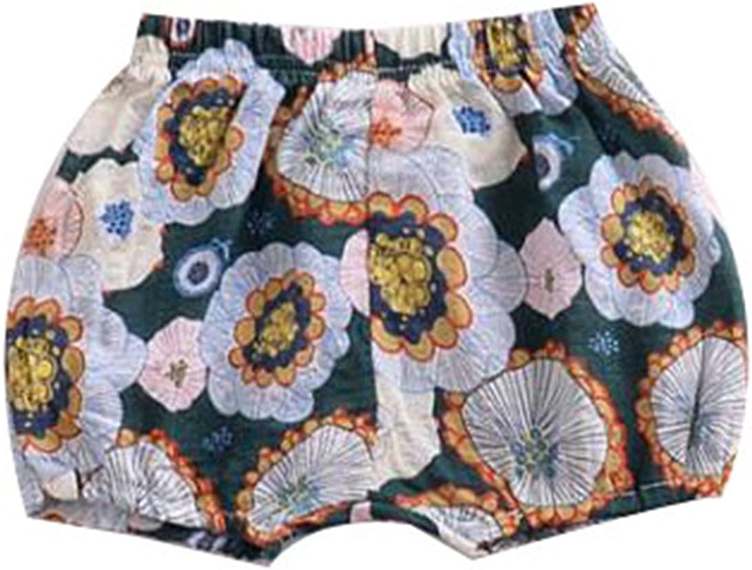 LOOLY Baby Girls Floral Bloomers Shorts Infant Flower Short Pants