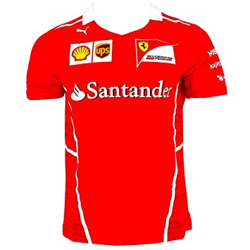 a4862aa9d4 Ferrari F1 Racing Replica SF Team Puma Camiseta Rojo Oficial 2017   Amazon.es  Deportes y aire libre