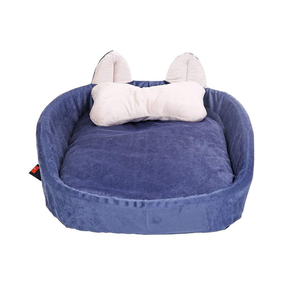 bluee S 665616cm bluee S 665616cm C_-1X Pet Supplies, Pet Litter, Kennel, Washable, Dog Bed, Cat Litter, Cat Room, Suitable for Pets(bluee S M L) (color   bluee, Size   S 66  56  16cm)