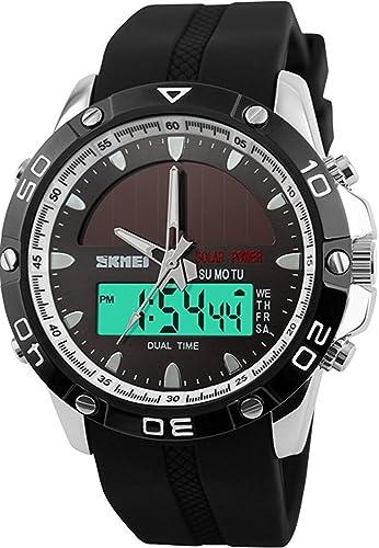 Reloj digital de cuarzo para hombre, deportivo, con energía solar, multifuncional, para uso al aire libre: Amazon.es: Relojes