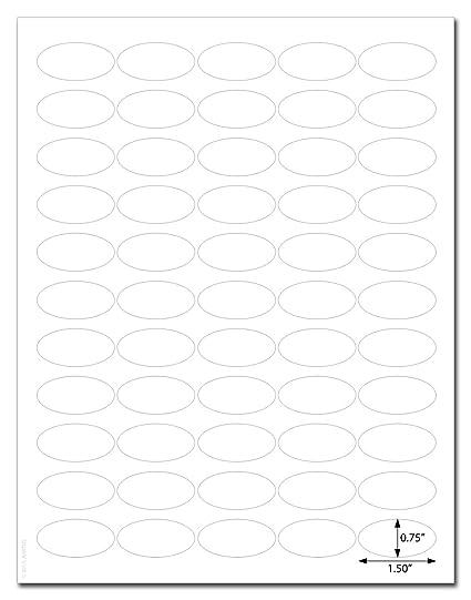 Amazon com : Waterproof White Matte 1 5 x 0 75 inch Oval